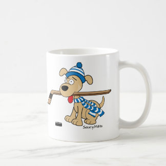 Cartoon Hockey Dog Coffee Mug