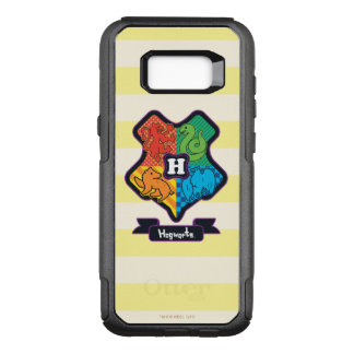 Cartoon Hogwarts Crest OtterBox Commuter Samsung Galaxy S8+ Case