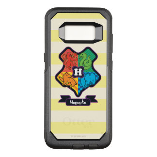 Cartoon Hogwarts Crest OtterBox Commuter Samsung Galaxy S8 Case