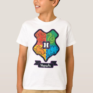Cartoon Hogwarts Crest T-Shirt