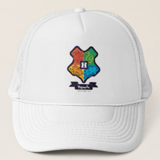 Cartoon Hogwarts Crest Trucker Hat