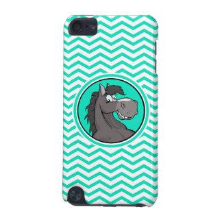 Cartoon Horse Aqua Green Chevron iPod Touch (5th Generation) Case