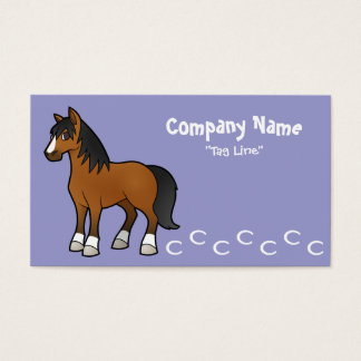 Cartoon Horse Business Card