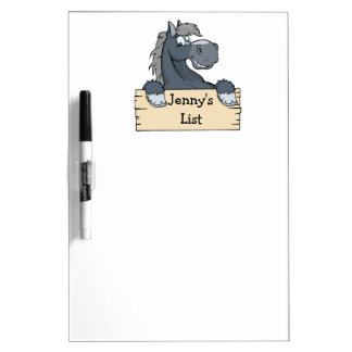 Cartoon Horse Kids To Do List Dry Erase Board