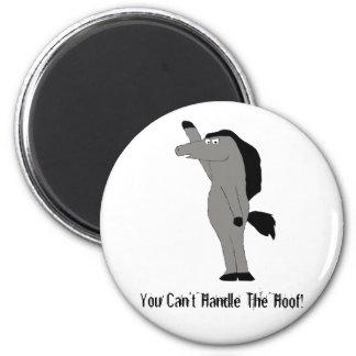 Cartoon Horse Lawyer 6 Cm Round Magnet