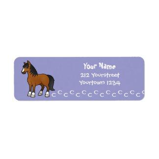 Cartoon Horse Return Address Label