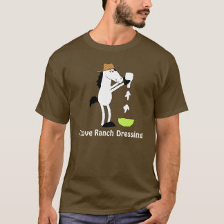 Cartoon Horse With Ranch Dressing T-Shirt