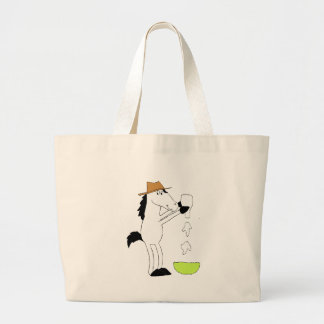 Cartoon Horse With Ranch Dressing Jumbo Tote Bag