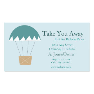 Cartoon Hot Air Balloon Rides Pack Of Standard Business Cards
