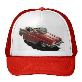 Cartoon hot rod Chevy Mesh Hat