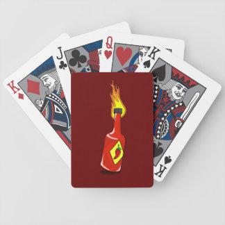 Cartoon Hot Sauce Bicycle Playing Cards