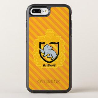 Cartoon Hufflepuff Crest OtterBox Symmetry iPhone 8 Plus/7 Plus Case