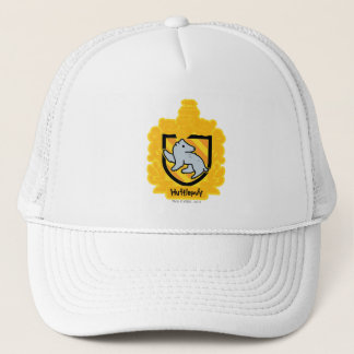 Cartoon Hufflepuff Crest Trucker Hat