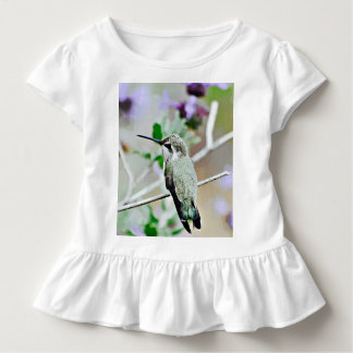 Cartoon Hummer Baby Ruffled Tee
