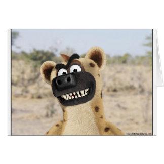 Cartoon Hyena Animal card