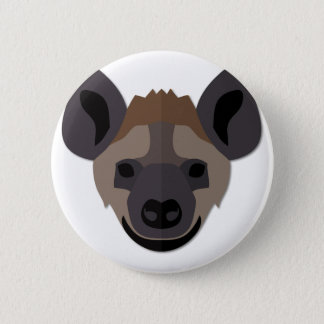 Cartoon Hyena Head 6 Cm Round Badge