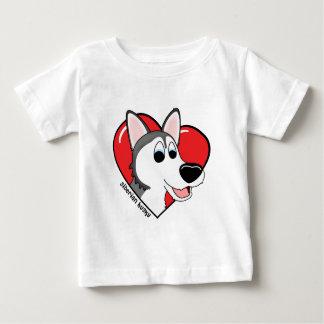Cartoon I Love my Siberian Husky Baby's Tshirt
