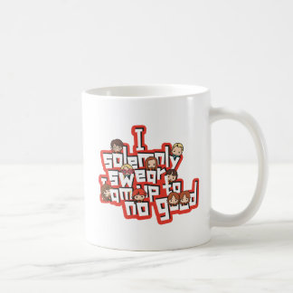 "Cartoon ""I solemnly swear"" Graphic Coffee Mug"