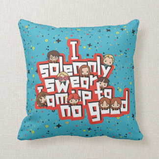 "Cartoon ""I solemnly swear"" Graphic Cushion"