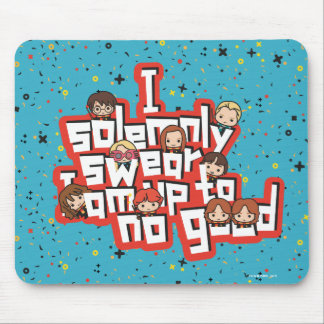 """Cartoon """"I solemnly swear"""" Graphic Mouse Pad"""