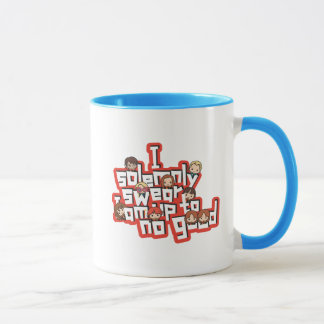 "Cartoon ""I solemnly swear"" Graphic Mug"