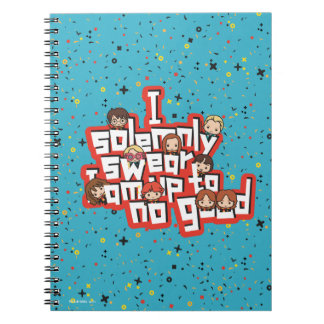 "Cartoon ""I solemnly swear"" Graphic Notebook"