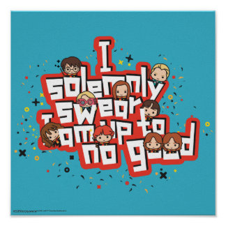 "Cartoon ""I solemnly swear"" Graphic Poster"