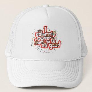 "Cartoon ""I solemnly swear"" Graphic Trucker Hat"