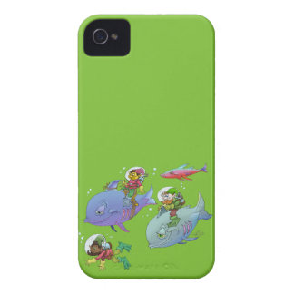 Cartoon illustration Gnomes and there fish friends Case-Mate iPhone 4 Case