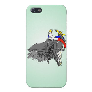 Cartoon Illustration of a Bald Eagle iPhone 5/5S Cover