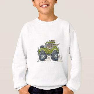 Cartoon illustration of a Elephant driving a jeep. Sweatshirt