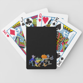 Cartoon illustration of a Halloween congo. Bicycle Playing Cards