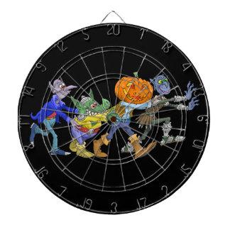 Cartoon illustration of a Halloween congo. Dartboard