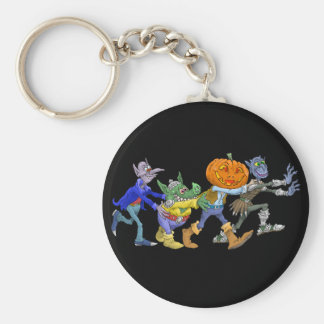 Cartoon illustration of a Halloween congo. Key Ring