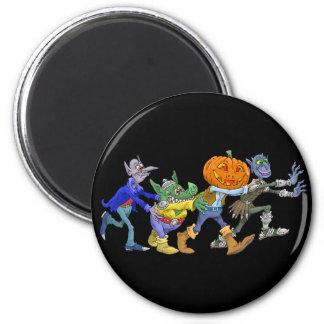 Cartoon illustration of a Halloween congo. Magnet