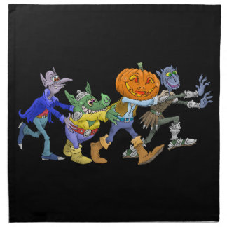 Cartoon illustration of a Halloween congo. Napkin
