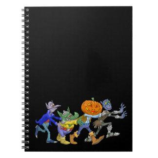 Cartoon illustration of a Halloween congo. Spiral Notebook
