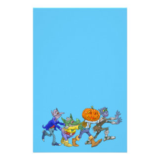 Cartoon illustration of a Halloween congo. Stationery