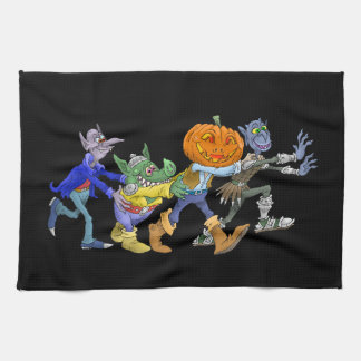 Cartoon illustration of a Halloween congo. Tea Towel