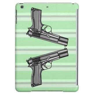 Cartoon Illustration Of A Modern Pistol