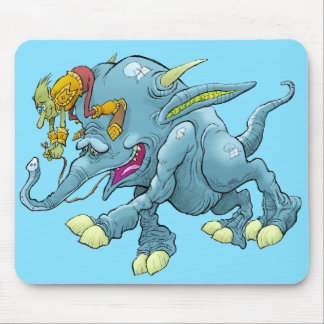 Cartoon illustration, of a running creature. mouse pad