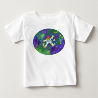 Cartoon illustration, of a space gnome, tees. baby T-Shirt