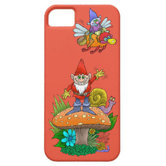 Cartoon illustration of a standing waving gnome. barely there iPhone 5 case