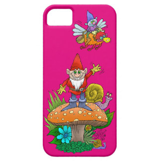 Cartoon illustration of a standing waving gnome. case for the iPhone 5