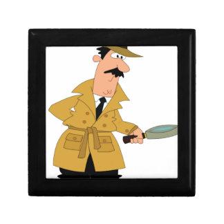 cartoon investigator yeah small square gift box
