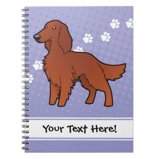 Cartoon Irish / English / Gordon / R&W Setter Notebook
