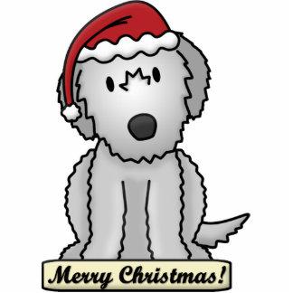 Cartoon Irish Wolfhound Christmas Ornament Photo Sculpture Decoration