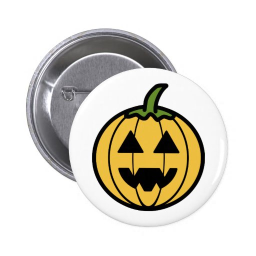 Cartoon Jack-o-Lantern Buttons