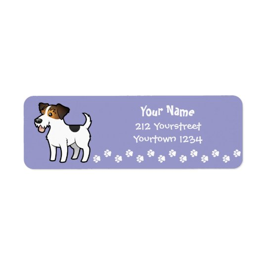 Cartoon Jack Russell Terrier Return Address Label