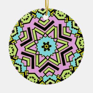 Cartoon Kaleidoscope 01 Christmas Tree Ornament